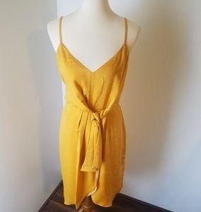 Hutch Neiman Marcus hammered satin wrap dress